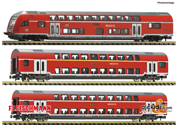 Fleischmann 862810 - 3 piece set double deck coaches