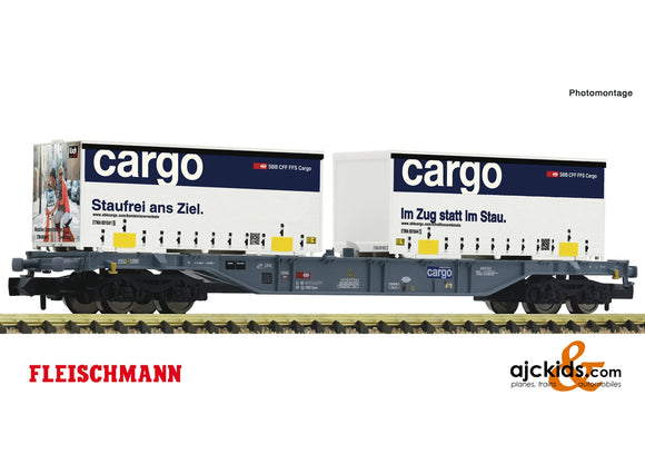 Fleischmann 865244 - Container carrier wagon
