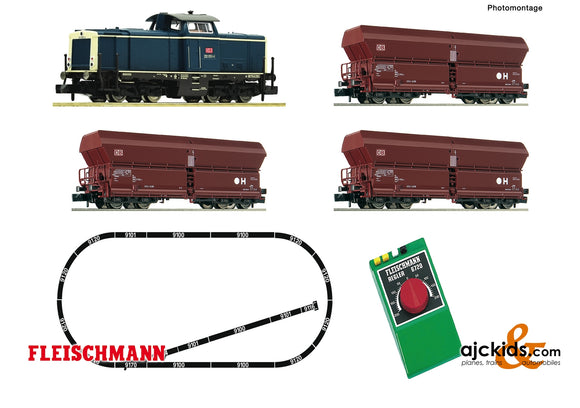 Fleischmann 931705 - Analogue start set: Diesel locomotive class 212 and goods wagon