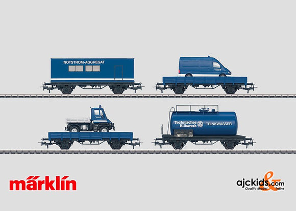 Marklin 00758 - Set with 24 THW Freight Cars in Display in H0 Scale