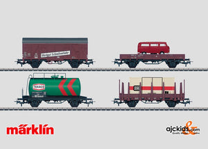 Marklin 00759 - Set with 24 Freight Cars in a Display in H0 Scale