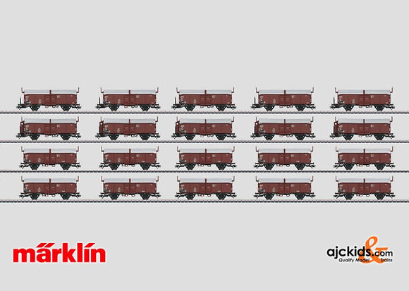 Marklin 00765 - Set with 20 Type Kmmks 51 Freight Cars in H0 Scale