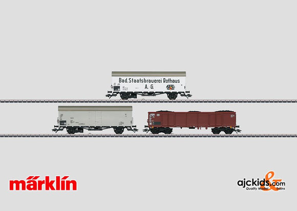 Marklin 00767 - Red Marker Lights Set with 3 Freight Cars