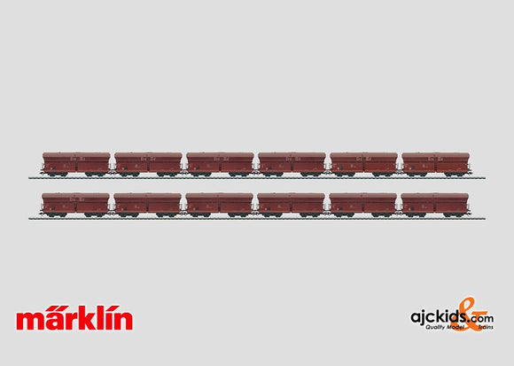 Marklin 00775 - Set with 12 Freight Cars in the Display Long Henry. in H0 Scale
