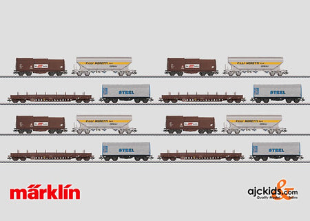Marklin 00799 - Set with 16 Freight Cars Alpine Traffic