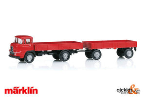 Marklin 18035 - Krupp Flatbed Front Steering Truck with a Trailer
