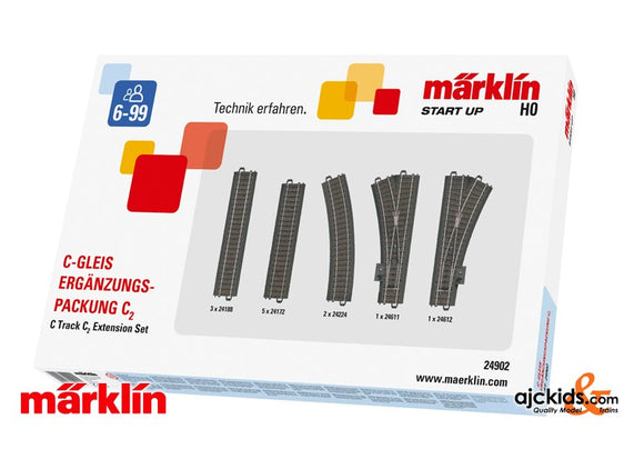 Marklin 24902 - C2 C-Track extension set in H0 Scale