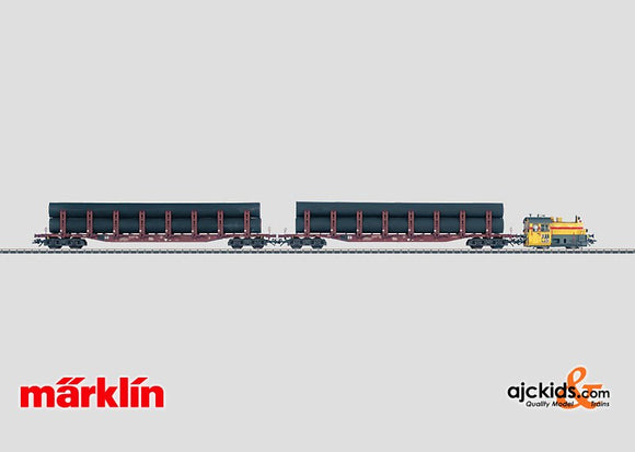 Marklin 26545 - RTS Pipe Transport Train in H0 Scale