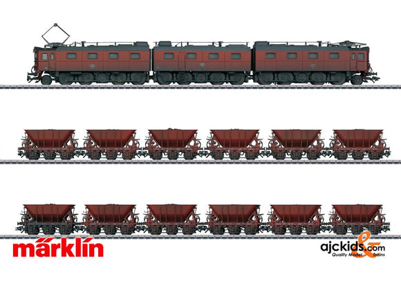 Marklin 26800 - Ore Train Dm3 Locomotive & 12 Ore Cars (weathered) in H0 Scale