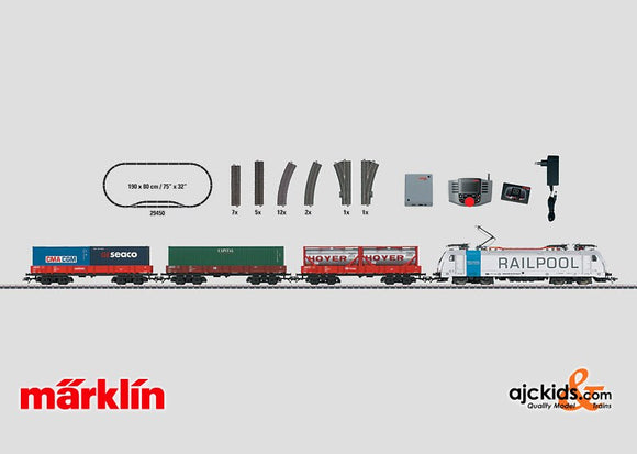 Marklin 29450 - Digital Starter Set Container Train in H0 Scale