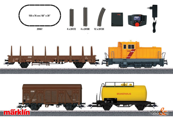 Marklin 29467 - Danish Freight Train Digital Starter Set. in H0 Scale