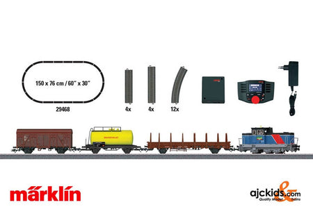 Marklin 29468 - Swedish Freight Train Digital Starter Set. 120 Volts. in H0 Scale
