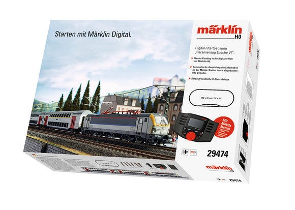 Marklin 29474 - EuroSprinter Passenger Train Digital Starter Set