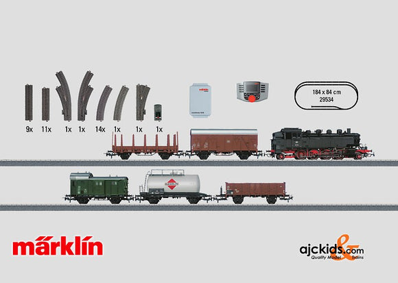 Marklin 29534 - Digital Starter Set Freight Train in H0 Scale