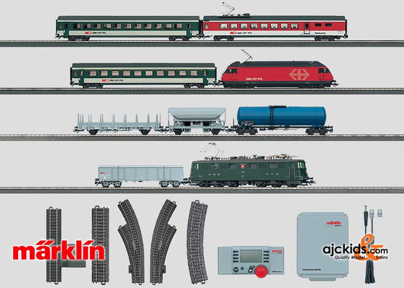 Marklin 29850 - Digital Mega Swiss Starter Set. 120 Volt in H0 Scale