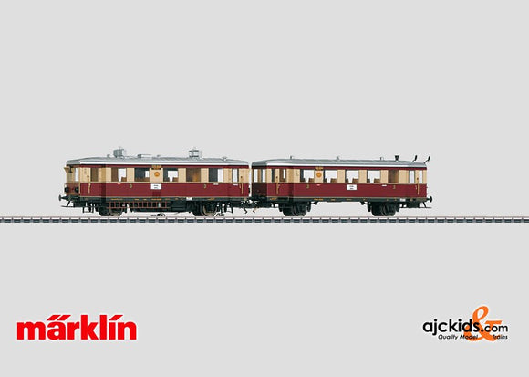 Marklin 37707 - Diesel Powered Rail Car with a Trailer in H0 Scale