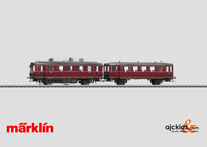 Marklin 37708 - Powered Railcar VT75 + VB140 - Hand Weathered in H0 Scale