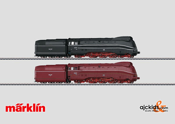Marklin 37912 - Set with 2 Streamlined Steam Locomotives in H0 Scale