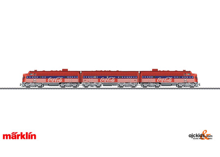 Marklin 39622 - F7 Diesel Electric Locomotive Coca Cola in H0 Scale