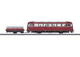 Marklin 39952 - VT 95.9 Rail Bus with a VB 141.2 Single-Axle Trailer (Insider) in H0 Scale