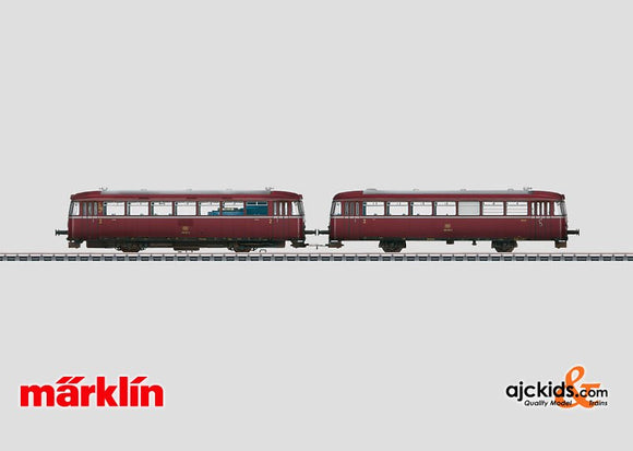Marklin 39989 - Rail Bus with Control Car BR 798 + 998 - Hand Weathered in H0 Scale