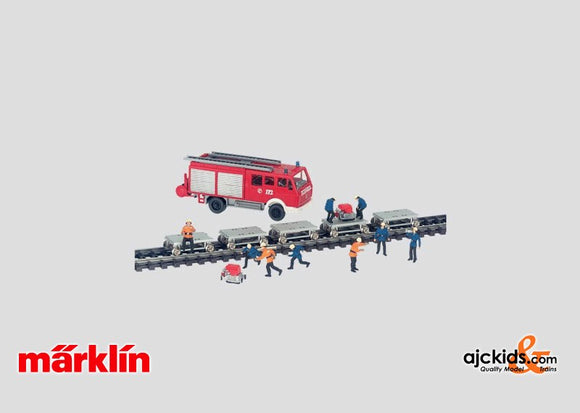 Marklin 40480 - Tunnel Rescue Train add-on set in H0 Scale