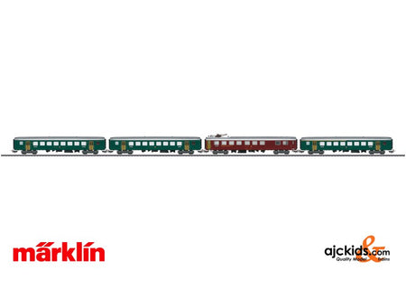 Marklin 40661 - Tin-Plate Passenger Car Set - 25 Years MHI in H0 Scale