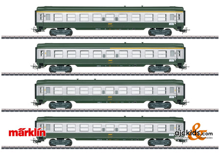 "Marklin 40691 - French ""Tin-Plate"" Express Train Passenger Car Set in H0 Scale"
