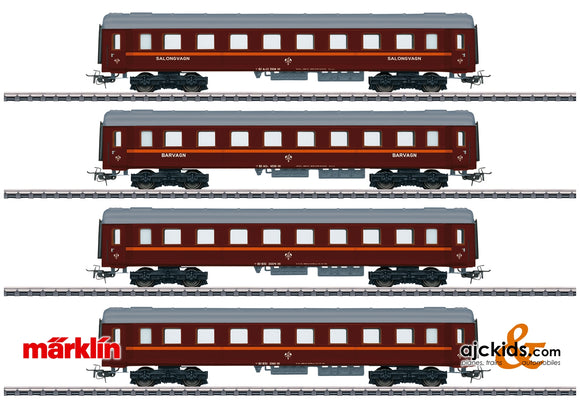 Marklin 41921 - Tin-Plate Passenger Car Set (sold only with 30302) in H0 Scale
