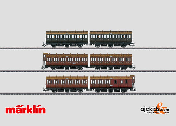 Marklin 42041 - Set with 3 Pairs of Compartment Cars in H0 Scale