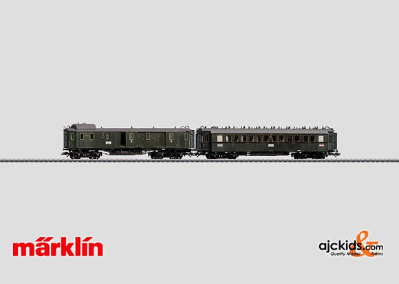Marklin 42763 - D 119 Express Train Passenger Car Set in H0 Scale