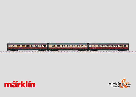 Marklin 43117 - TEE Add-On Car Set (only sold with 37607) in H0 Scale
