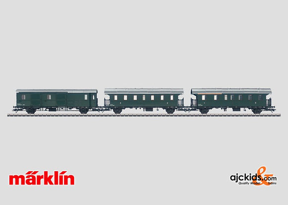 Marklin 43143 - Set with 3 Branch Line Cars in H0 Scale