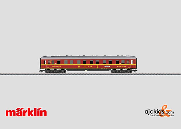 Marklin 43252 - DSG Express Train Sleeping Car (Sounds) in H0 Scale