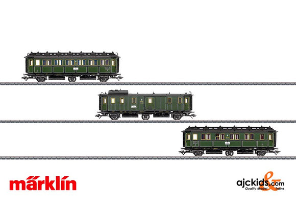 Marklin 43320 - 3 Passenger cars set, K.Bay.Sts.B.