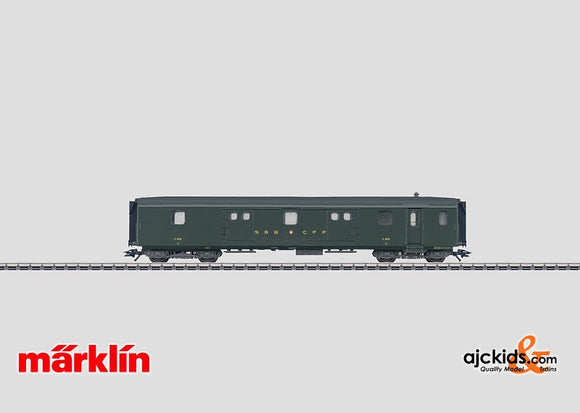 Marklin 43400 - Lightweight Steel Baggage Car in H0 Scale