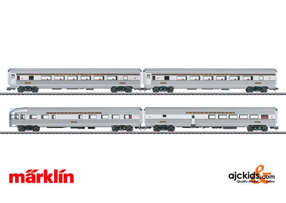 Marklin 43616 - PRR Streamliner Passenger 4-Car Set in H0 Scale