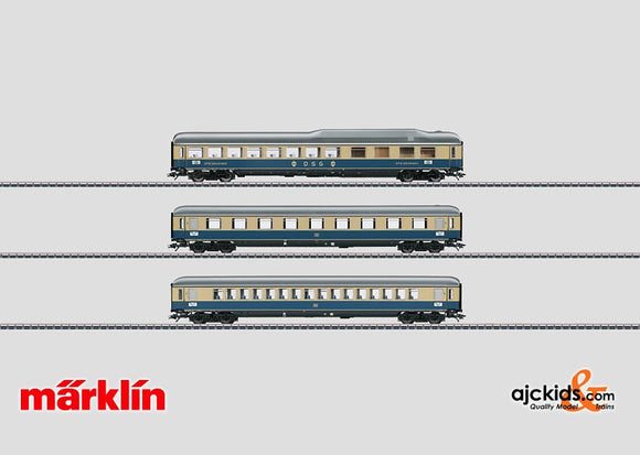 Marklin 43873 - Rheingold 1962 Express Train Passenger Car Set 2 in H0 Scale