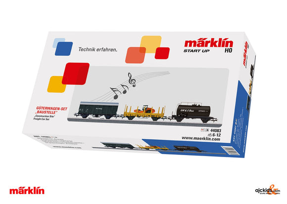 Marklin 44083 - Construction Site Freight Car Set (Sound)