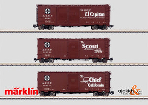 Marklin 45651 - 3 AT & SF Boxcars