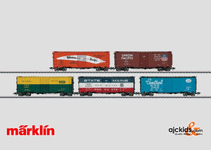 Marklin 45653 - Box Set of 5 Cars, various U.S. railroads