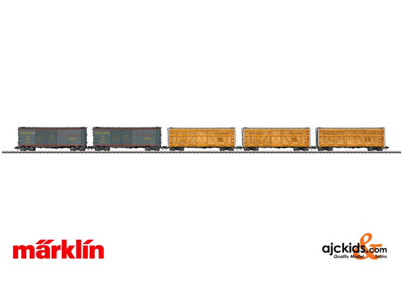 Marklin 45660 - American Freight 5 Car Set in H0 Scale