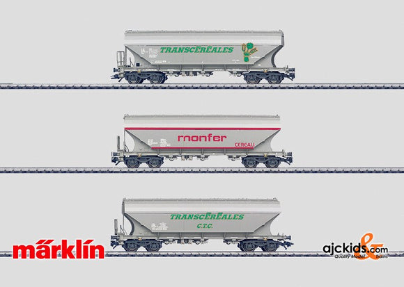 Marklin 46321 - Grain hopper car set in H0 Scale