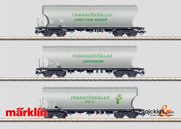Marklin 46322 - Set with 3 Silo Cars in H0 Scale