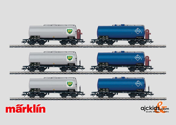 Marklin 46527 - Set with 6 Tank Cars BP & Aral in H0 Scale