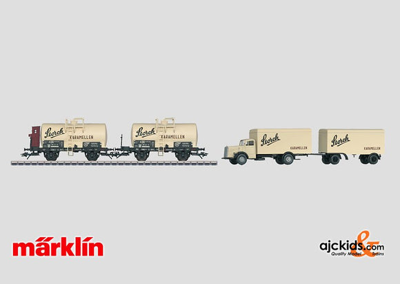 Marklin 46753 - Tank Car Set and Truck Storck in H0 Scale