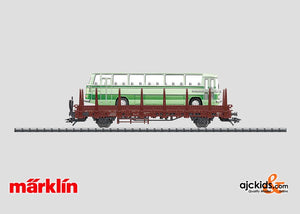 Marklin 46940 - Stake Car with a Bus in H0 Scale