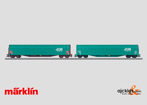 Marklin 47007 - 2 Low Side Cars with Sliding Tarp Covers in H0 Scale