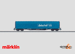 Marklin 47009 - Sliding Tarp Car Delacher + Co in H0 Scale