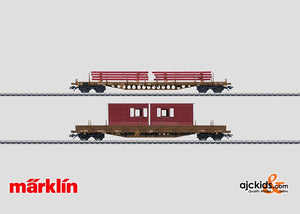 Marklin 47025 - Set with 2 Low Side Cars in H0 Scale